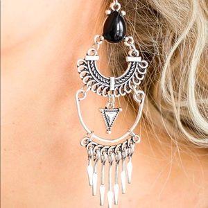 Progressively Pioneer - Black Earrings